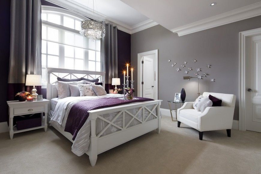 Jane Lockhart Interior Design Creates Elegant Interior For Custom Kylemore Home Purple Bedroom Decor Home Decor Bedroom Purple Bedrooms
