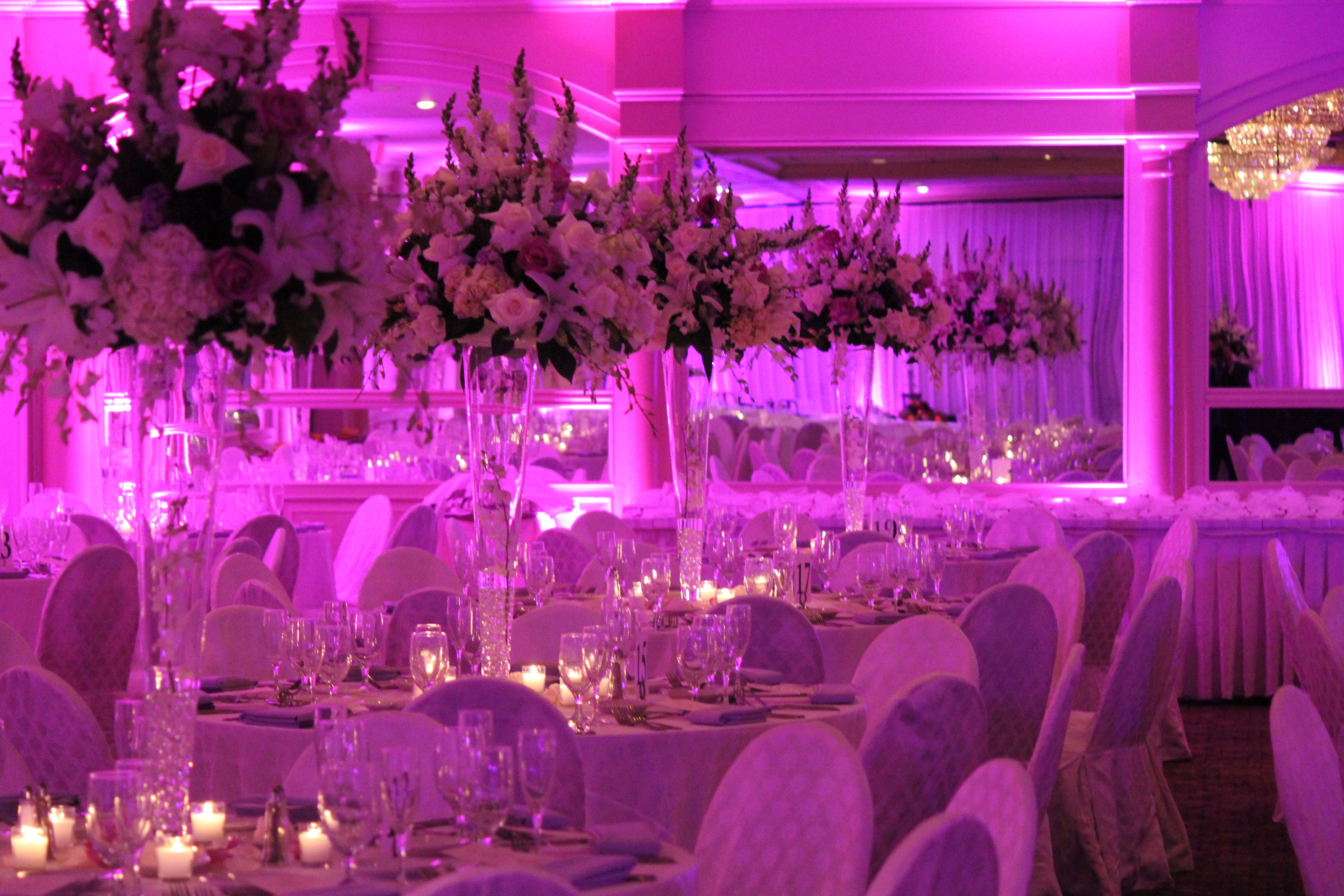 Lighting a room at the Pines Manor