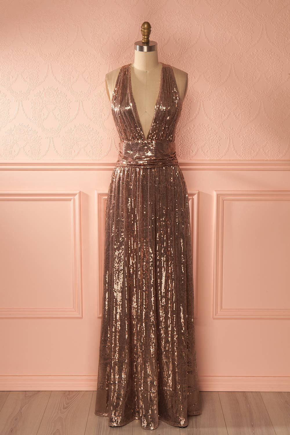 Lucila | Gold sequin gown, Sequins and Gowns