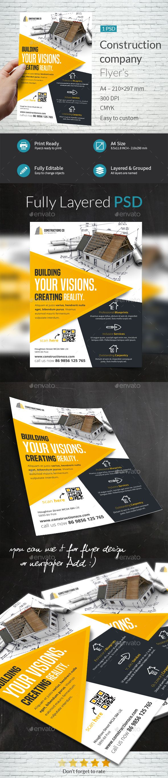construction company flyer template flyers print templates download here