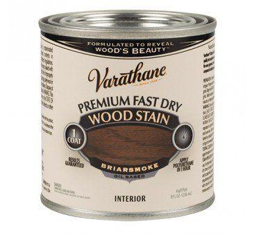 Varathane 307415 Fast Dry Wood Stain, Briar Smoke, 1/2 Pint