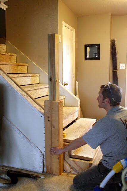 Moving Back The Newel Posts To Open Up The Stairs Diy Ideas