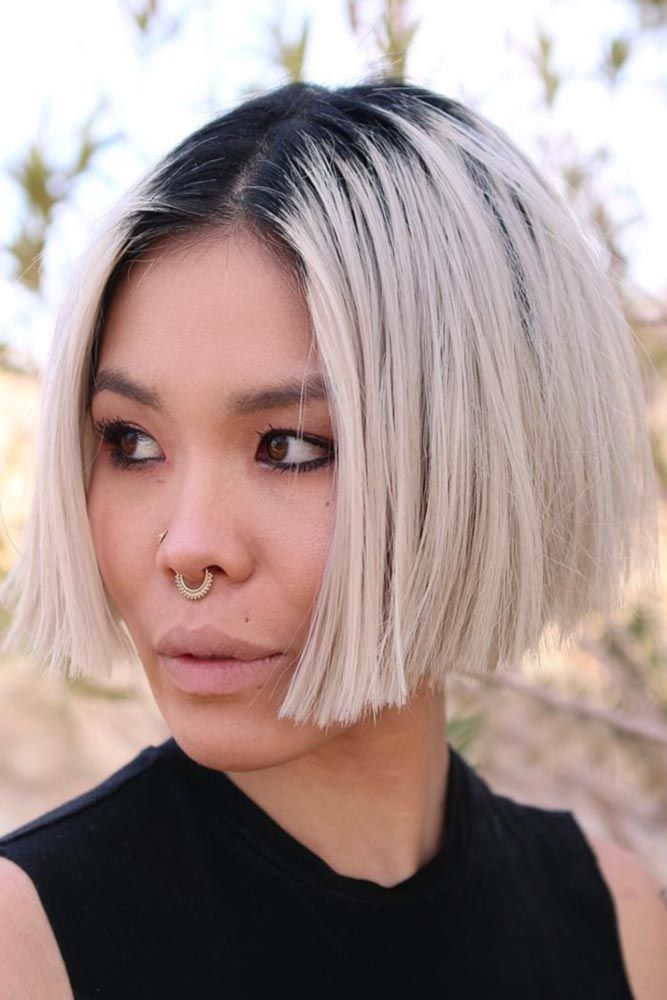38 Flirty Blonde Hair Colors To Try In 2018 Funky Bob Pinterest