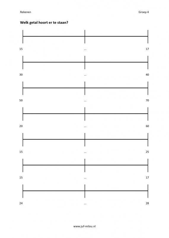 Wonderbaarlijk Pin op Rekenen: getallenlijnen KJ-85