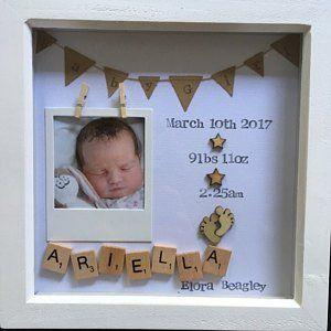 Cadeau de fille de chéri, cadre de garçon de bébé, nouveau cadeau de chéri, cadeau pour le nouveau-né, 1er anniversaire, impression personnalisée de nom, impression de pépinière de filles, nouvelle arrivée
