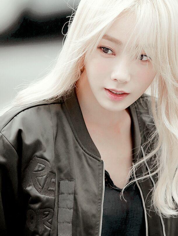 White Kpop Hair K Pop Amino Girls Generation Taeyeon Blonde Asian Kpop Hair