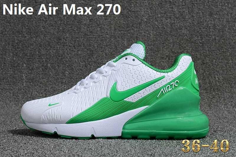 buy popular 87e44 a816e Nike Air Max 270 KPU Green White Women Shoes