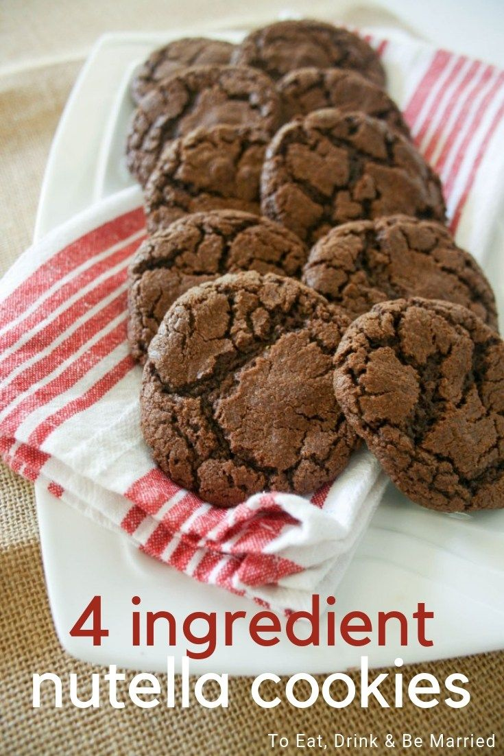 4 Ingredient Nutella Cookies is part of Nutella cookies - If you are looking for the simplest, yet most delicious cookie recipe, these 4 Ingredient Nutella Cookies are what you're looking for!