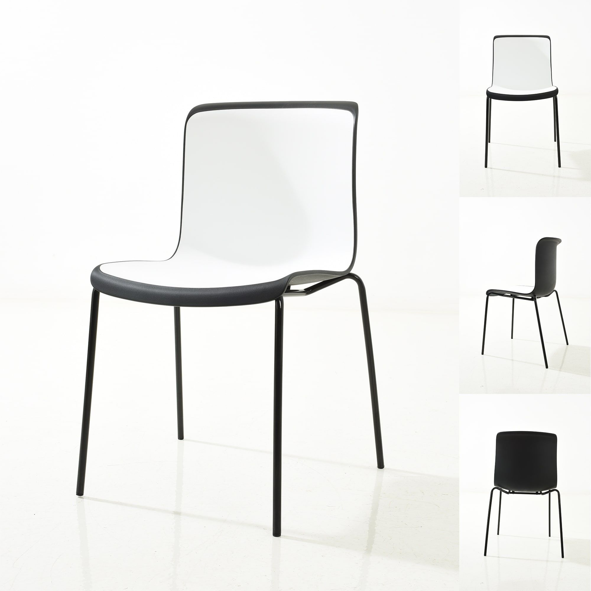 Admirable Petite Enrik Modern Two Toned Polypropylene Dining Chair Caraccident5 Cool Chair Designs And Ideas Caraccident5Info