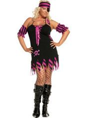 bf297619bc59c Adult Shipwrecked Wench Pirate Costume Plus Size