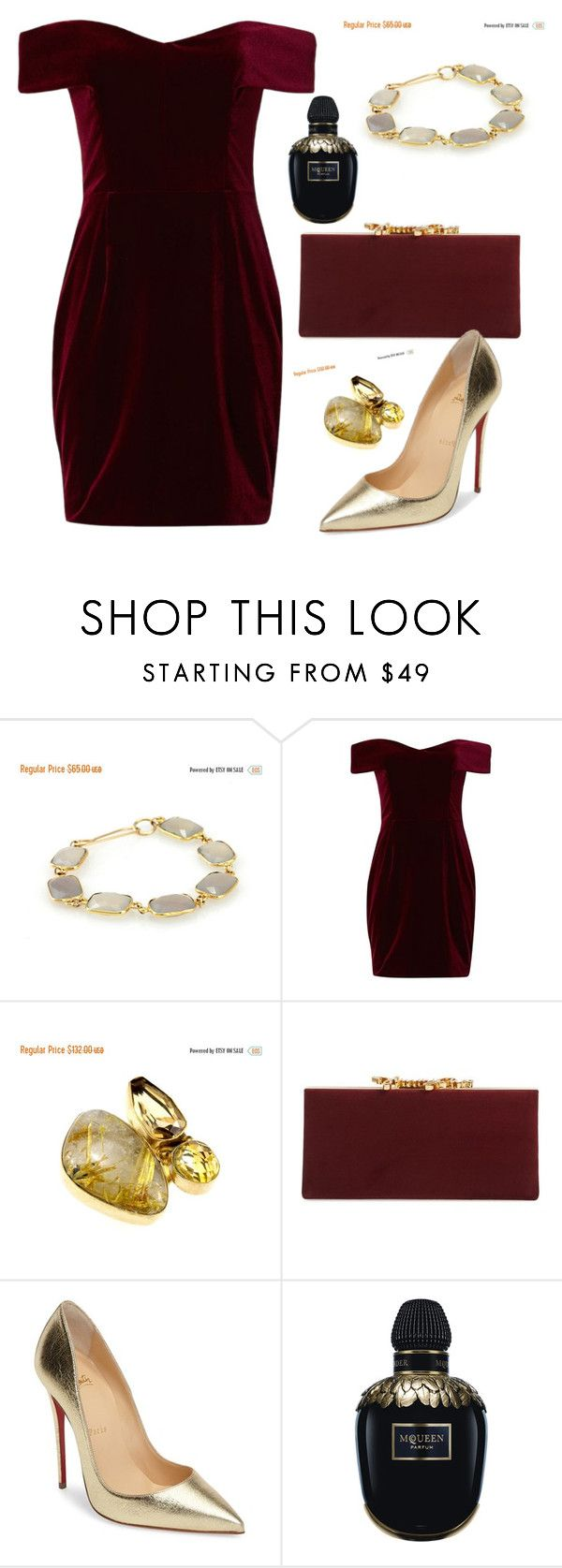 """batyas"" by elly-852 ❤ liked on Polyvore featuring Nicholas, Jimmy Choo, Christian Louboutin and Alexander McQueen"