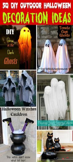 50 Astounding But Easy DIY Outdoor Halloween Decoration Ideas - cheap easy diy halloween decorations