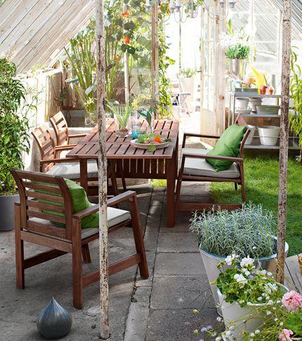 ÄPPLARÖ Serie, Gartenmöbel in weiß  gemütliches Gewächshaus - gartenmobel design weis
