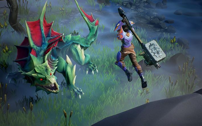 Download Wallpapers Drask Combat, 2018 Games, RPG