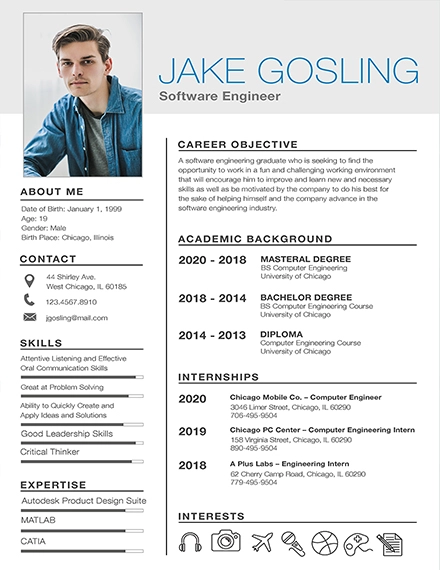 Free resume template word 7+ Basic Fresher Resume
