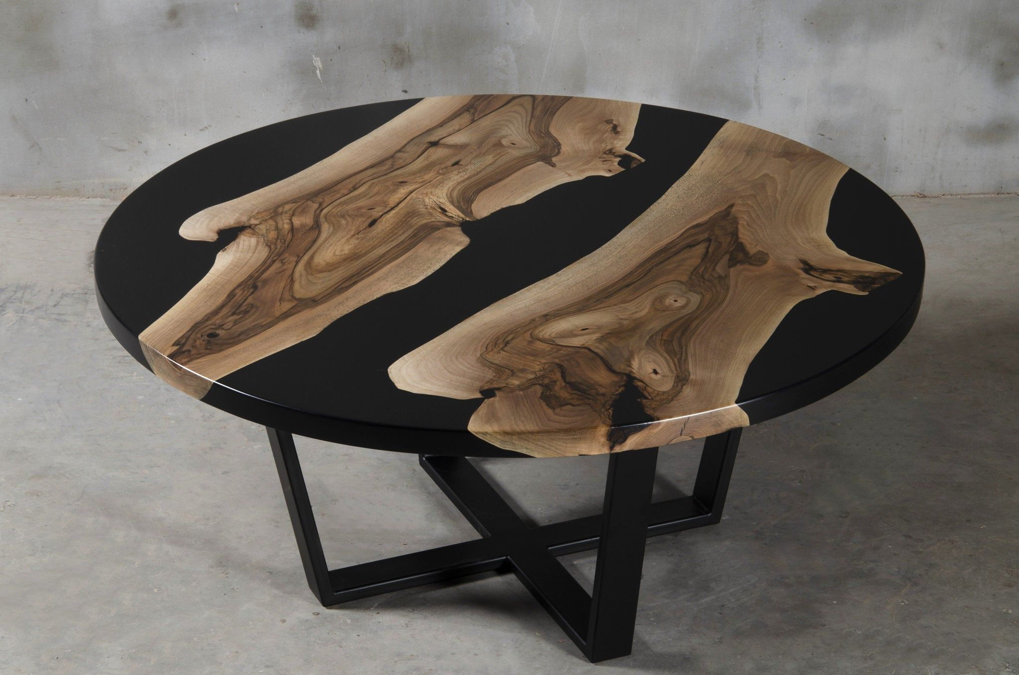 Custom Round Resin Table Made Of Walnut Black Epoxy Table Etsy Resin Table Walnut Coffee Table Modern Walnut Coffee Table [ 1357 x 2048 Pixel ]