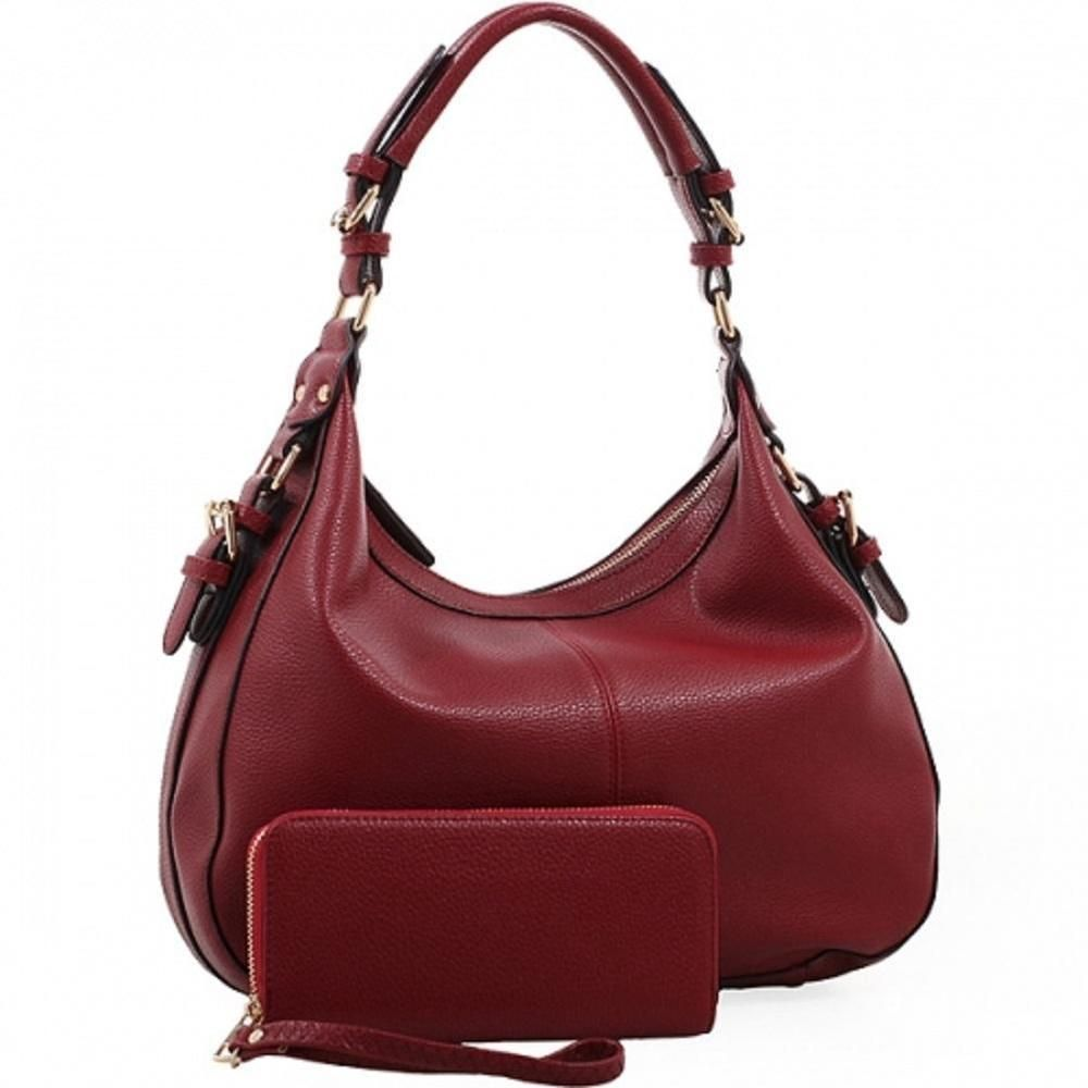 4e56cf3ffd Burgundy Chloe Lock and Key Concealed Carry Purse W Matching Wallet   EmperiaOutfitters  Hobo