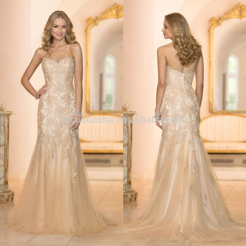 Champagne Beaded Wedding Dresses Google Search