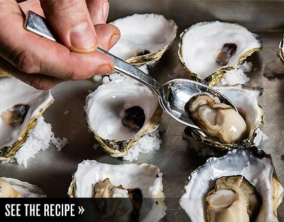 Jeremy Sewall's Bacon-and-Leek Baked Oysters from Island Creek Oyster Bar   Tasting Table
