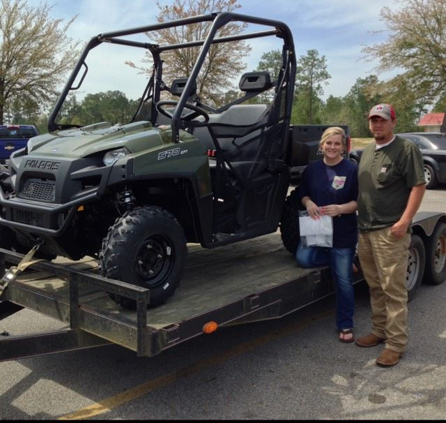 Thanks to the Matthews family from Mize MS for getting a 2016 Polaris Ranger 570 at Hattiesburg Cycles