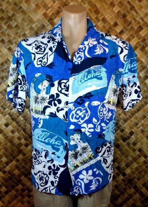 JAMS WORLD mens HAWAIIAN ROYAL HAWAIIAN HOTEL MUTI Print Shirt - SMALL #JamsWorld #Hawaiian