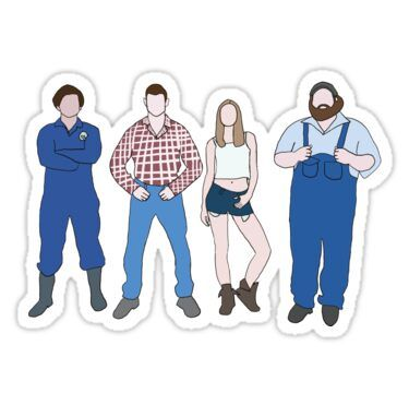 Wayne Katy Daryl And Dan Letterkenny Sticker By Sikora11 Letterkenny Sticker Store True Detective Art