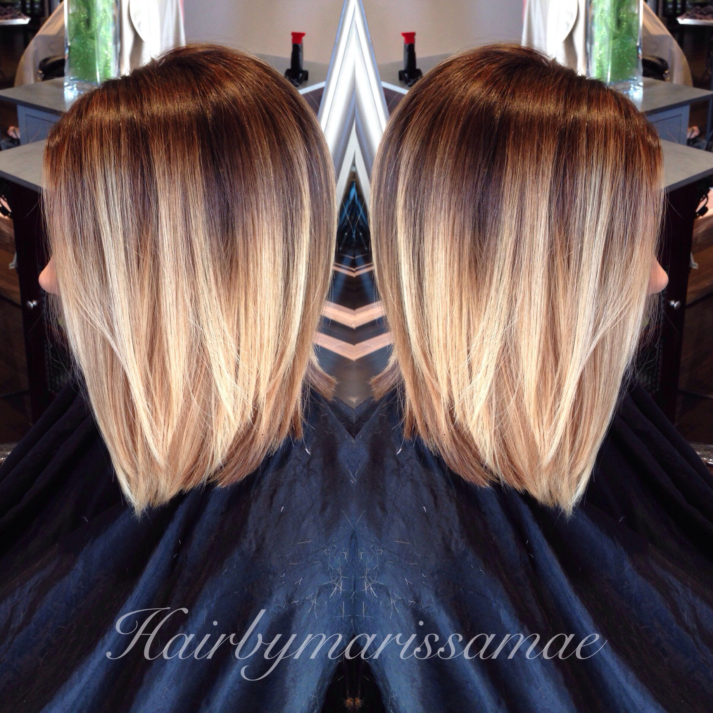 Latest trend blonde ombre colored short hair blonde ombre