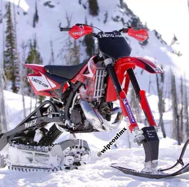 Pin By Parker Kray On Dirt Bikes Snowbike Dirtbikes Bike