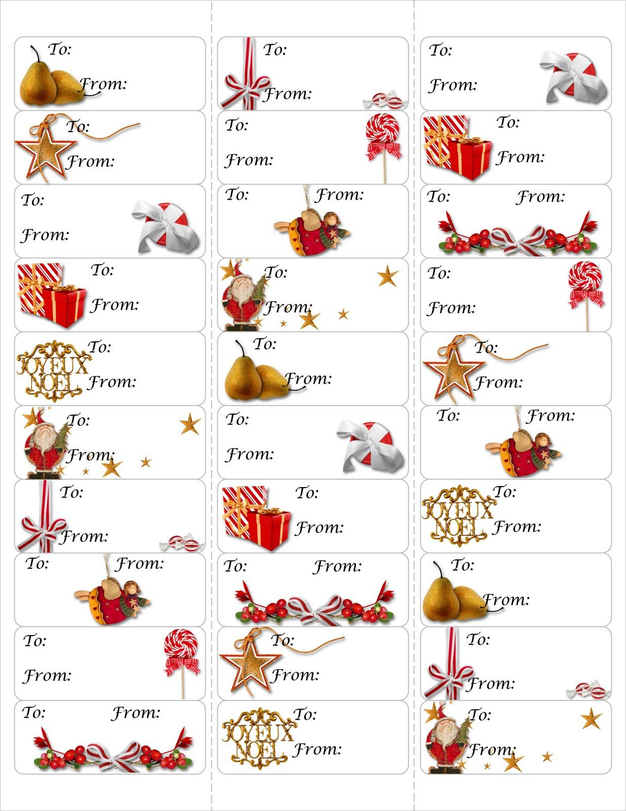 Free Christmas T Tag Printable Print Either On Card Stock Amp Cut Out Or Print On Avery