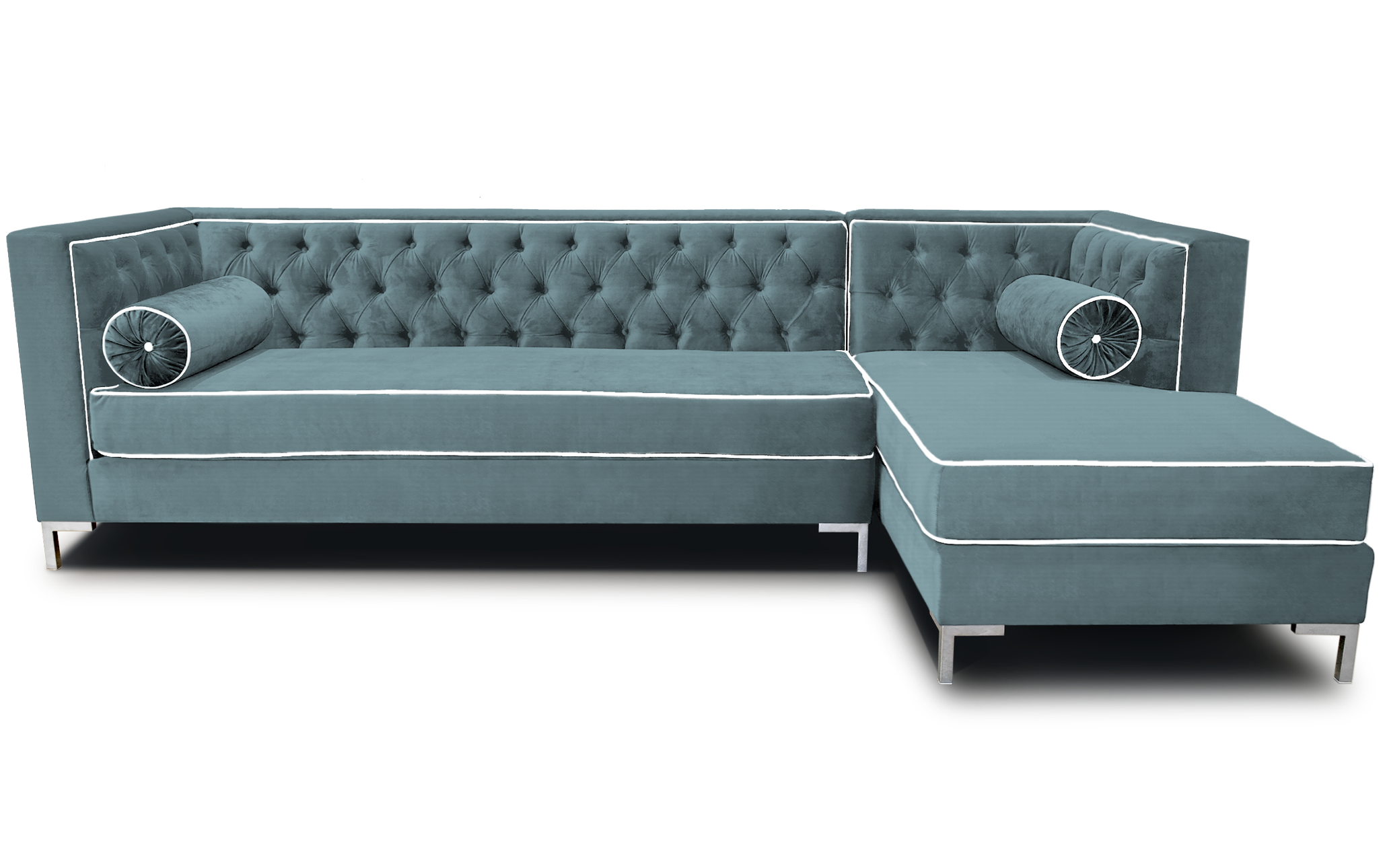 Microfiber Tufted Sofa