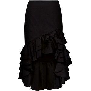 Caroline Constas - Pencil Ruffled High-low Skirt