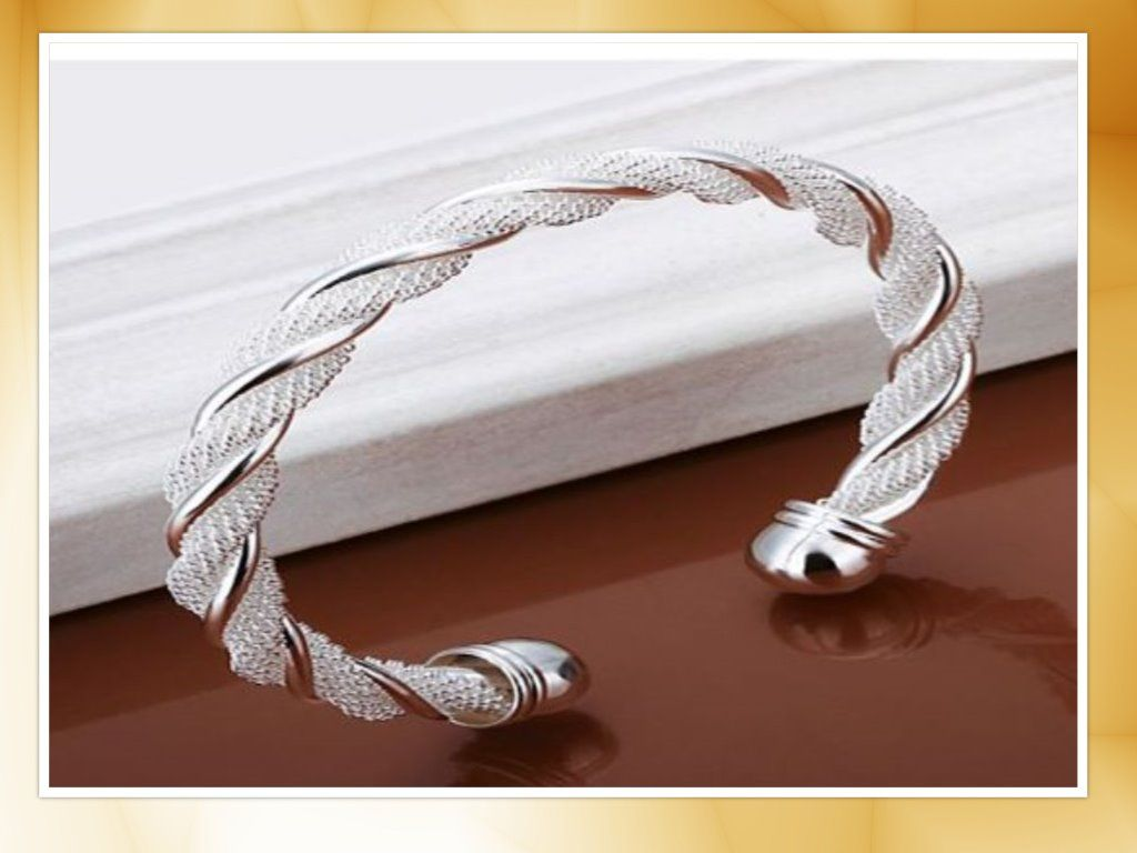 Elegance twist silver plated bracelet bracelets type cuff bracelets