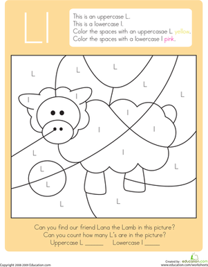 Worksheet Letter L Worksheets For Preschool hidden pictures and crayons on pinterest color by letter capital lowercase l worksheet tons more all subjects