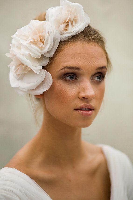 Silk Bridal hair Accesory Triple Rose by MaggieMowbrayHats, £175.00
