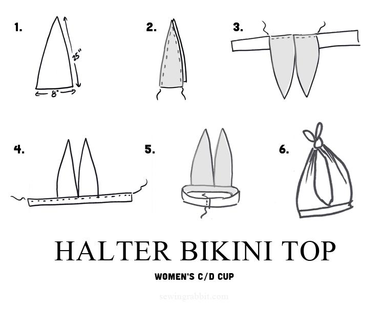 Bikini top pattern