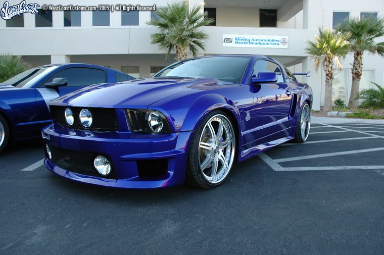 Ford Mustang 2006 Cream Color The West Coast Customs Version Does Have Diffe Side Skirts It