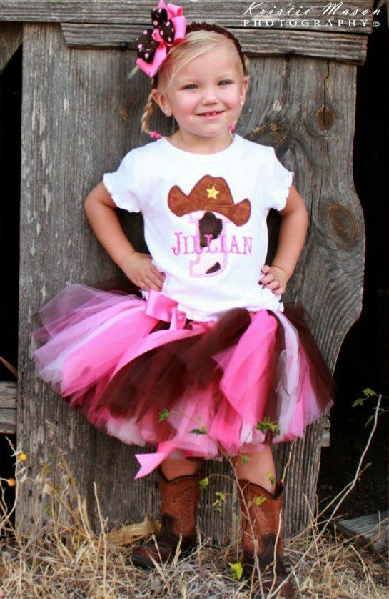 Love This Tutu Idea Cowgirl Birthday OutfitsBirthday TutuToddler