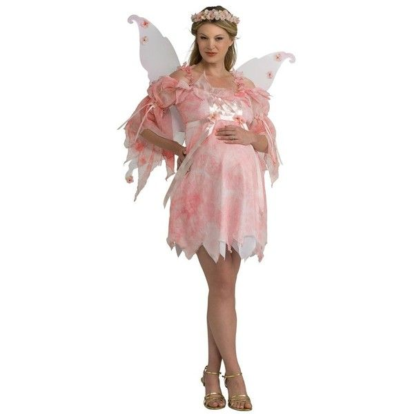 Fairy Maternity Adult Costume ($43) ❤ liked on Polyvore featuring - no cost halloween costume ideas