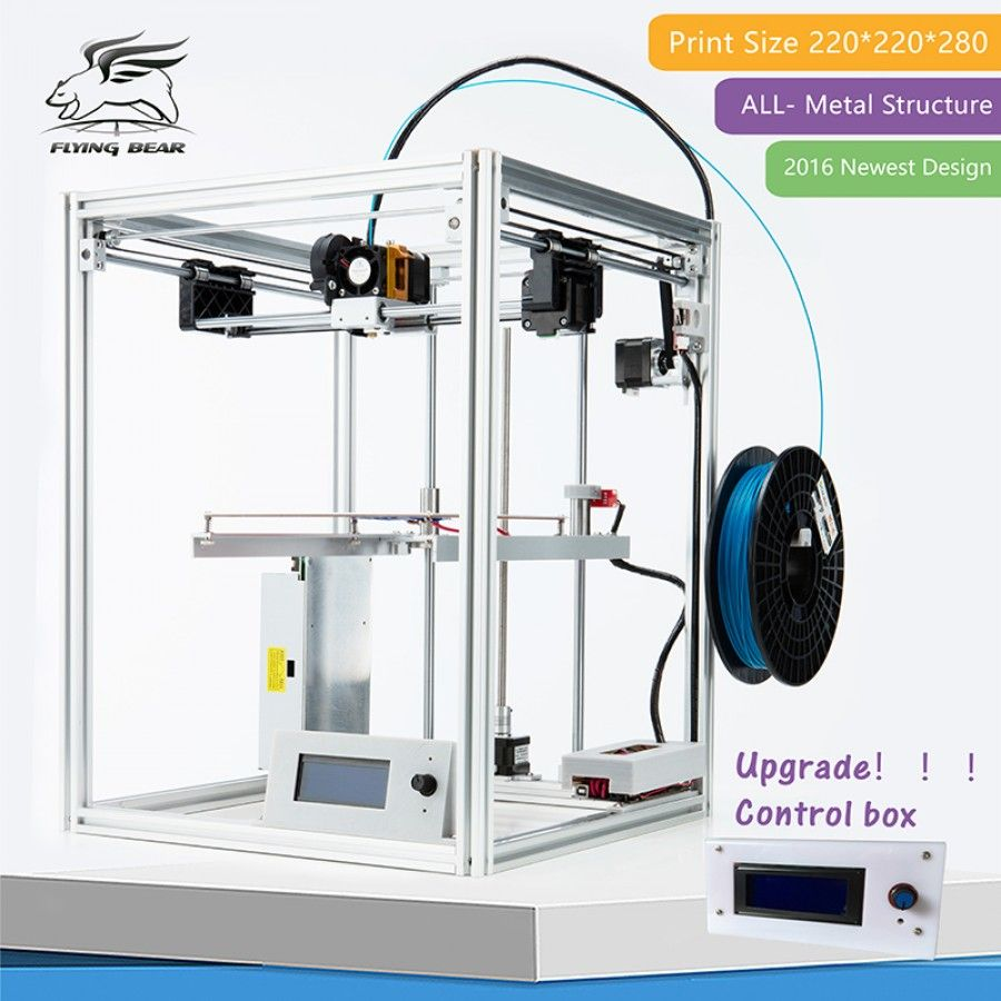 Flyingbear Full Metal Large Build Size Diy 3d Printer Kit 3dprint Com Printer Impressora 3d Metal