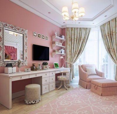 Desk Vanity Combo Room Inspiration Home Decor Room Decor