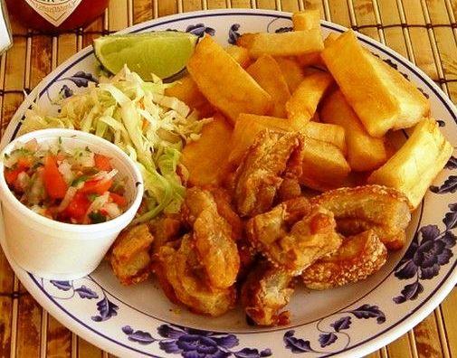 Yuca Frita Salvadoreña Con Chicharrón Recetas De Comida