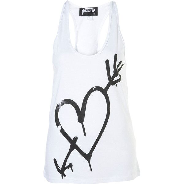 Spray Heart Racerback Vest by Illustrated People** (29 AUD) ❤ liked on Polyvore featuring tops, tank tops, shirts, women and illustrated people