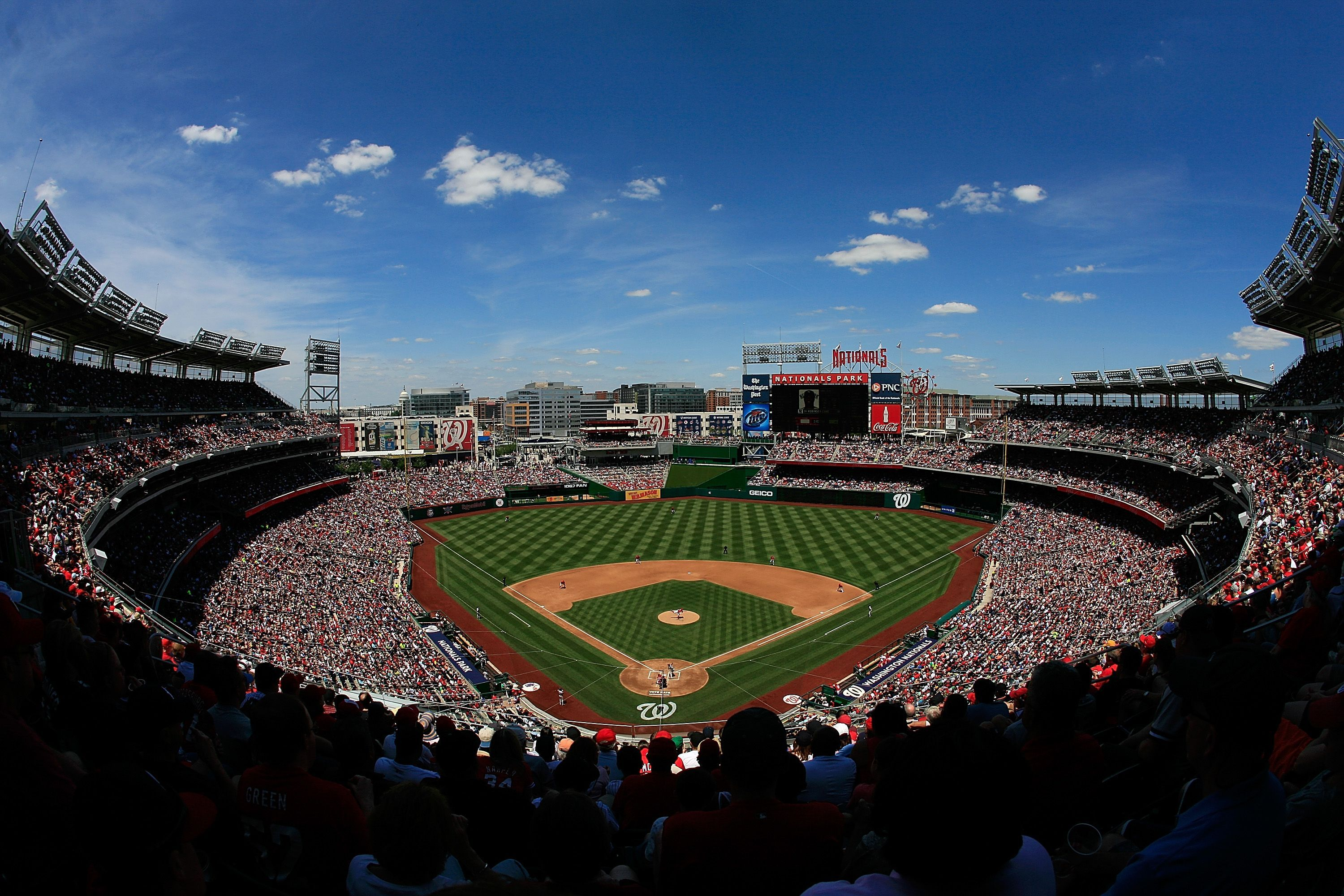 Take In A Baseball Game At Nationals Park Home To The Washington Nationals Never Stress About Par Washington Nationals Baseball Nationals Park Baseball Park