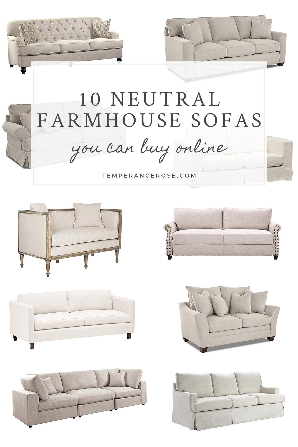 Some Pretty Neutral Farmhouse Sofas Couches You Can Buy Online