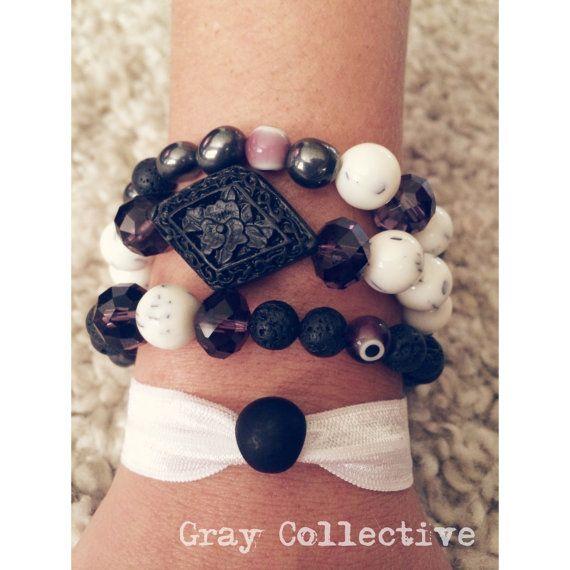 Purple Evil Eye Set by GrayCollective on Etsy, $26.00