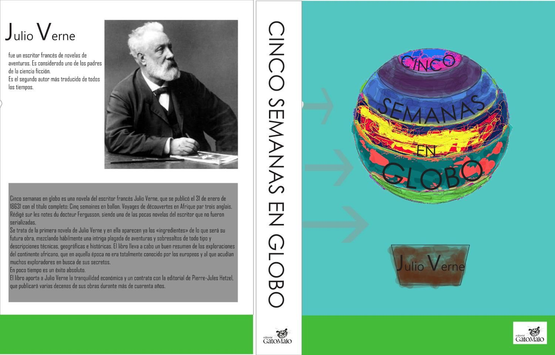 cinco semanas en globo  julio verne portada illustrator