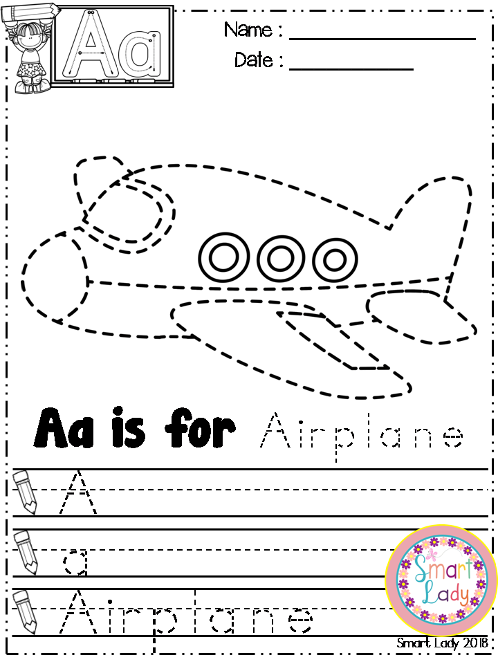 Alphabet Tracing Pages | Pinterest