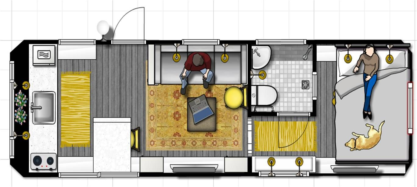 This is my proposed plan for my 1970 Airstream. The queen