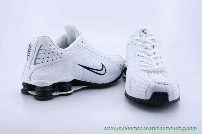 103161 Nike Shox R4 Masculino Branco Preto Comprar Baratos With