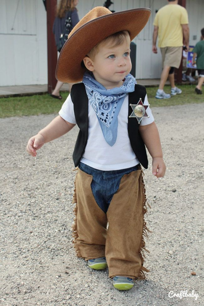 Craftbaby halloween diy cowboy costume for toddlers for Diy halloween costumes for kid boy